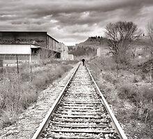 Railway Tracks and Graffiti by Tara  Turner