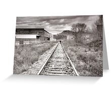 Railway Tracks and Graffiti Greeting Card