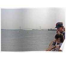 Manhattan Bridge/ Liberty Island View  Poster