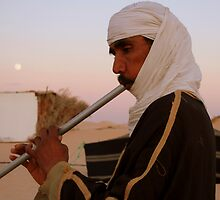 Musician in the Sahara Desert by Laurel Talabere