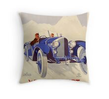 Vintage Auto Race Poster - ADAC - German Racing - Vintage Adverting Poster - Car / Automobile Argentina 1933 Throw Pillow