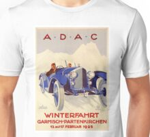 Vintage Auto Race Poster - ADAC - German Racing - Vintage Adverting Poster - Car / Automobile Argentina 1933 Unisex T-Shirt