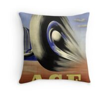 Vintage Racing Poster - Vintage Adverting Poster - Car / Grand Prix 1931 Throw Pillow