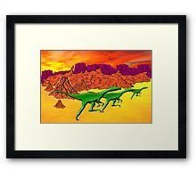 Theropods on the Run Framed Print