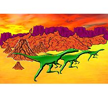 Theropods on the Run Photographic Print