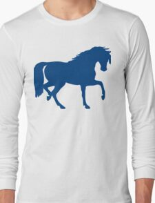Trotting Horse Silhouette Long Sleeve T-Shirt