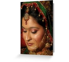 THE INDIAN BRIDE Greeting Card