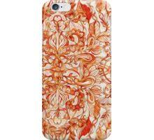 Art Nouveau Pattern in Pumpkin Spice iPhone Case/Skin