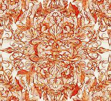 Art Nouveau Pattern in Pumpkin Spice by micklyn