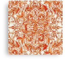 Art Nouveau Pattern in Pumpkin Spice Canvas Print