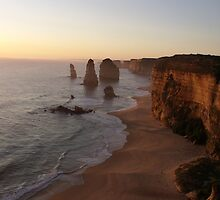 Sunset at the Twelve Apostles by Monica Bailey