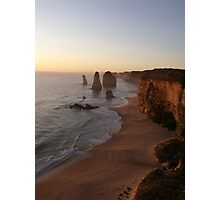 Sunset at the Twelve Apostles Photographic Print
