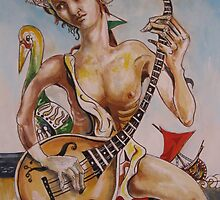 The Musician with bird by Jedika