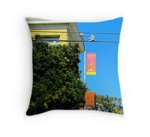 Walking The Wires Throw Pillow