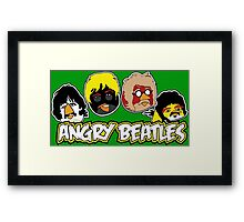 Angry Beatles - Angry Birds/ Beatles Parody Framed Print