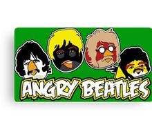 Angry Beatles - Angry Birds/ Beatles Parody Canvas Print