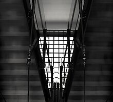 Triangular Stairwell by Cathy L. Gregg