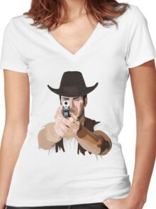 Aim to your target! Women's Fitted V-Neck T-Shirt