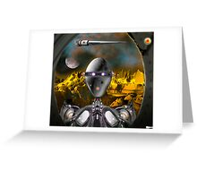 There's a 'droid at the door Greeting Card