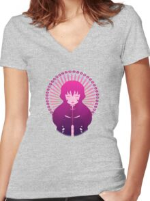 Pink Dolly Luka Women's Fitted V-Neck T-Shirt