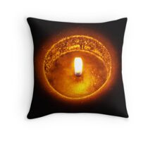 Black candle Throw Pillow