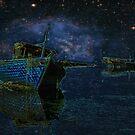 Boats Under Starry Night - Kuwait by Larry3