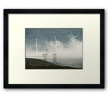 NEW AGE POWER GRID Framed Print