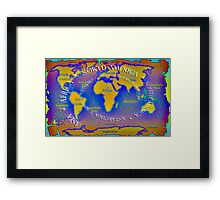 The seven continents Framed Print
