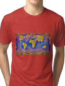 The seven continents Tri-blend T-Shirt