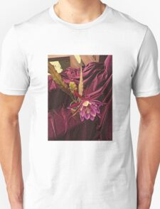 Velvetized Cactus Flower - Epiphyllum Midnight T-Shirt