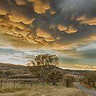 mammatus clouds canberra by Kym Bradley