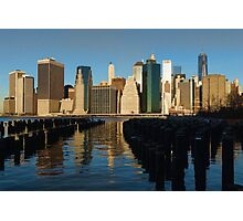 New York City Morning Reflections - Impressions Of Manhattan Photographic Print