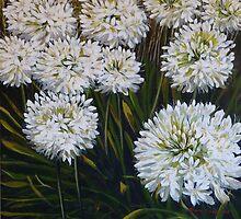 White agapanthus by Elizabeth Moore Golding