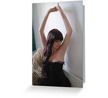 Black Corset 1 Greeting Card