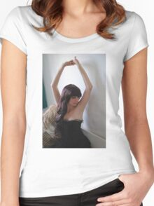 Black Corset 1 Women's Fitted Scoop T-Shirt