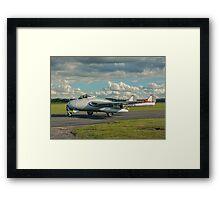 De Havilland Vampire FB.6 LN-DHY Framed Print