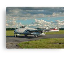 De Havilland Vampire FB.6 LN-DHY Canvas Print