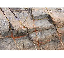 Geometry And Art In Rock And Orange Lichen Photographic Print