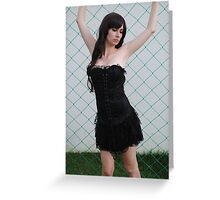 Black Corset 2 Greeting Card