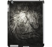 Silver Horse coat of arms. iPad Case/Skin