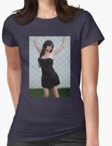 Black Corset 2 Womens Fitted T-Shirt