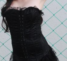 Black Corset 2 Sticker