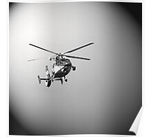 Helicopter in black Poster