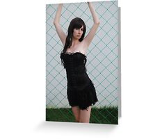 Black Corset 3 Greeting Card