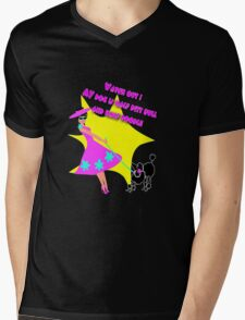 Watch out my poodle! Mens V-Neck T-Shirt