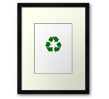 Recycling Sticker - Recycle Logo Decal Framed Print