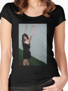 Black Corset 5 Women's Fitted Scoop T-Shirt