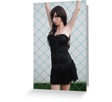 Black Corset 7 Greeting Card