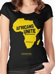 Africans unite Women's Fitted Scoop T-Shirt
