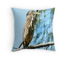 A Haughty Heron Throw Pillow